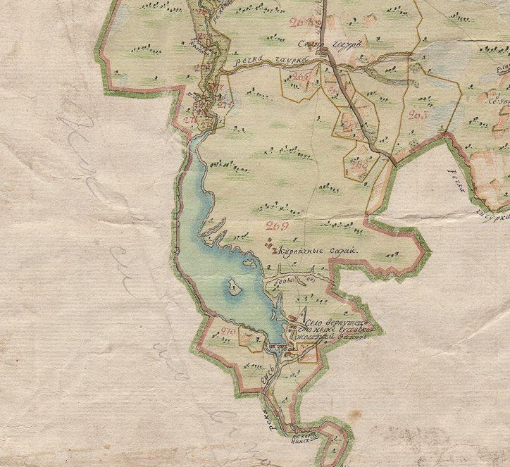 Карта 1780 года