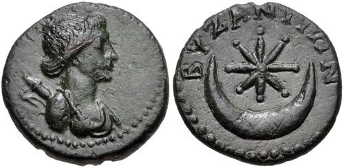 Византийская монета неустановленного года выпуска