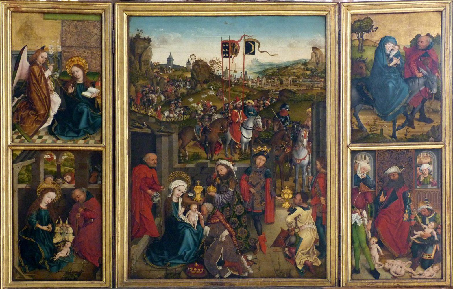 Three Kings Altar, St. Lorenz, Nuremberg, Germany.