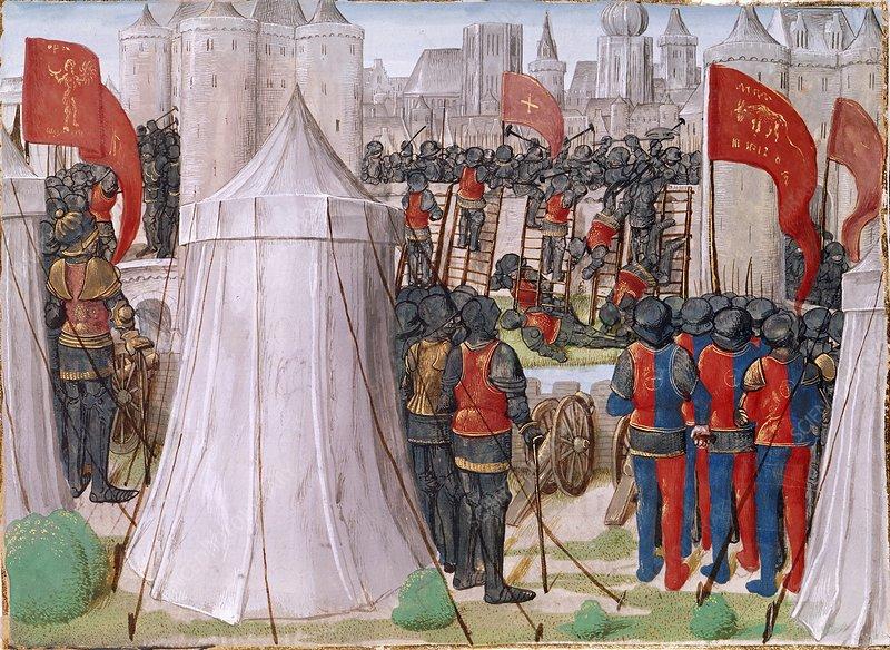 Иллюстрация к «Chronique d'Ernoul et de Bernard le Trésorier».