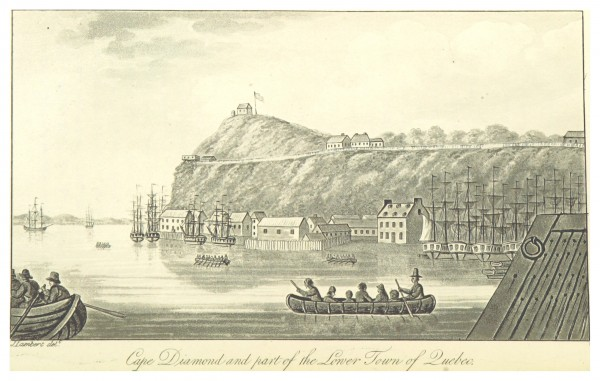 LAMBERT 1816 CAPE DIAMOND AND PART OF THE LOWER TOWN OF QUEBEC